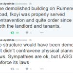 LASG Demolition Notice