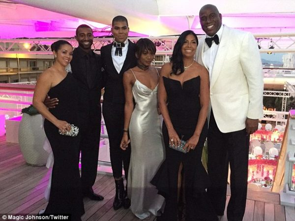 Magic Johnson, WIfe Cookie & Kids