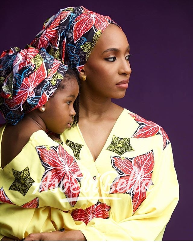 Maryam and her baby girl @bighstudios, assisted by @kunle_laniyan
