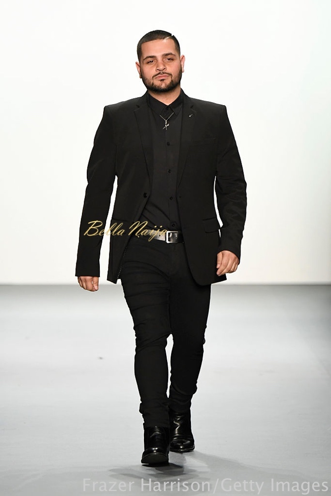NEW YORK, NY - SEPTEMBER 08: Designer Michael Costello greets the audience at the Michael Costello fashion show during New York Fashion Week: The Shows September 2016 at The Dock, Skylight at Moynihan Station on September 8, 2016 in New York City. (Photo by Frazer Harrison/Getty Images for New York Fashion Week: The Shows)