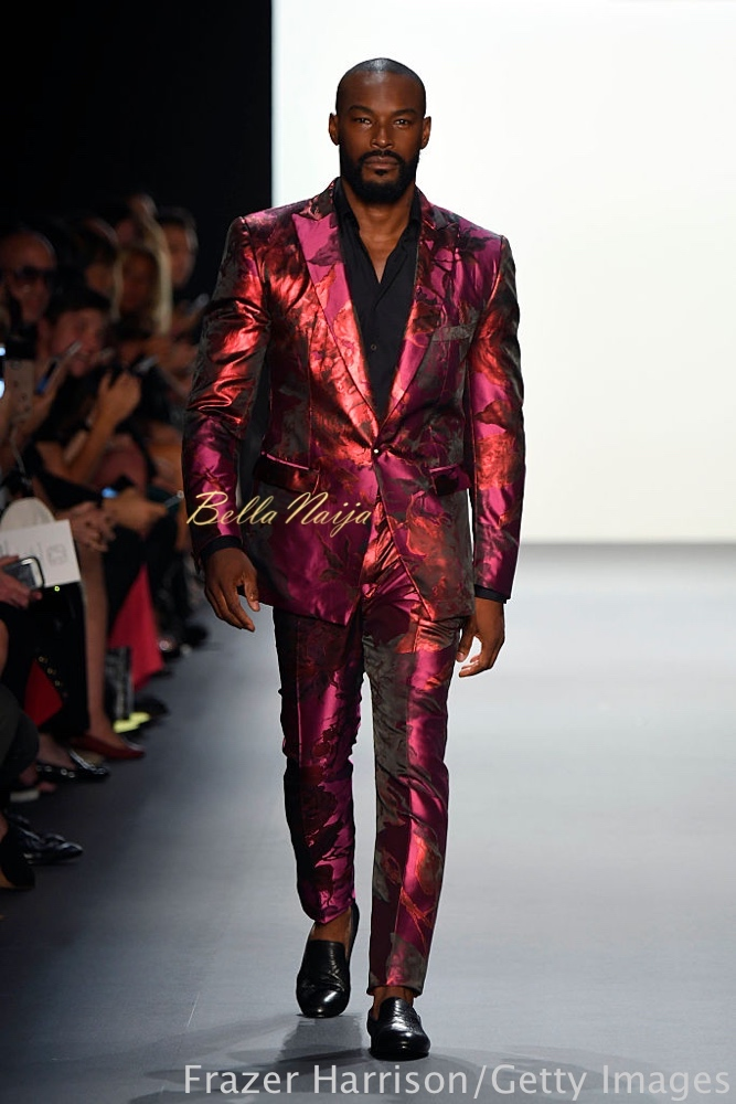 NEW YORK, NY - SEPTEMBER 08: Tyson Beckford walks the runway at the Michael Costello fashion show during New York Fashion Week: The Shows September 2016 at The Dock, Skylight at Moynihan Station on September 8, 2016 in New York City. (Photo by Frazer Harrison/Getty Images for New York Fashion Week: The Shows)