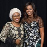 Michelle Obama and Aisha Buhari, First Lady of Nigeria