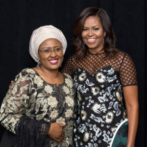 Michelle Obama and Aisha Buhari, First Lady of Nigeria