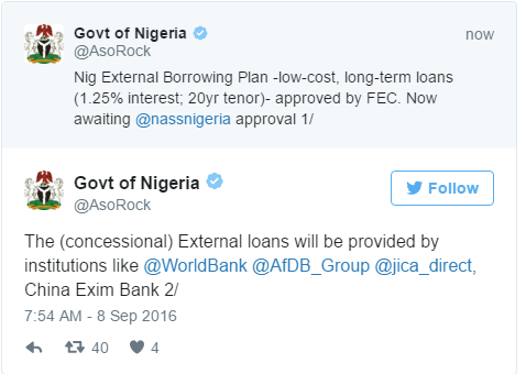 Nigeria's Borrowing Plan