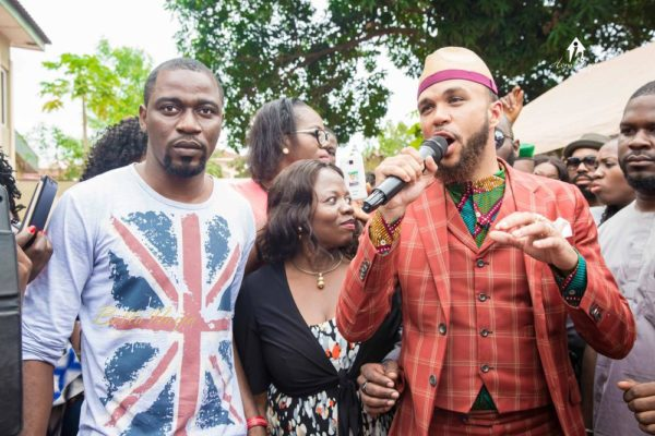 Ohis and Jidenna at his Primary School