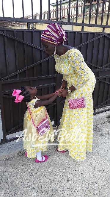 Oluwaseun twinning with daughter Tamilore