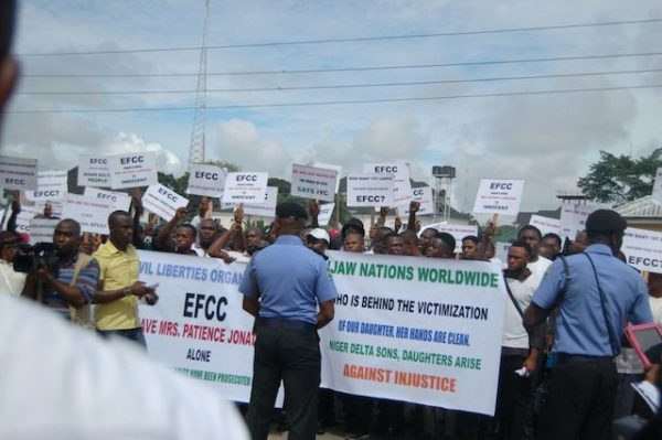Patience Jonathan Protesters