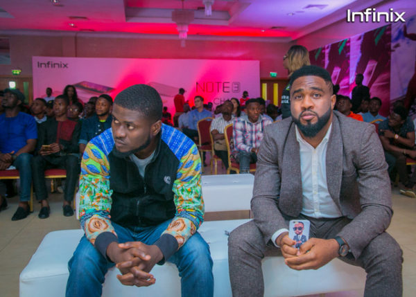 Praiz MTN ambassador at Infinix note 3 event