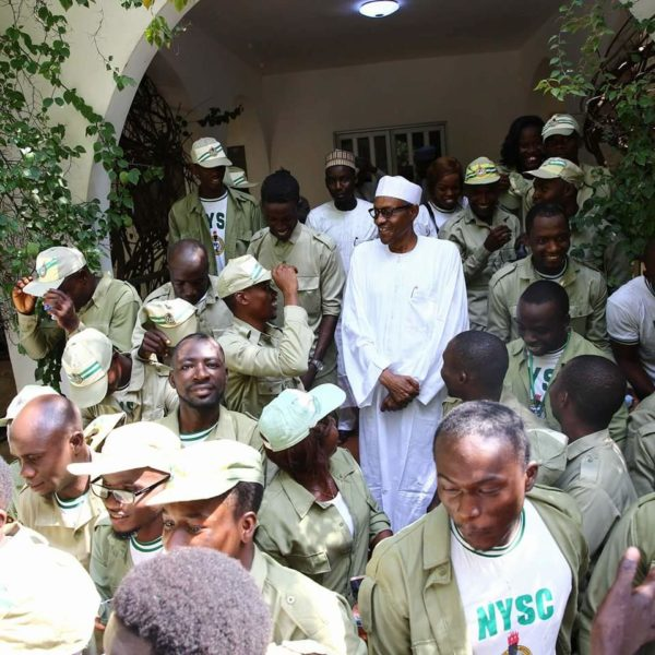 President Buhari Meets NYSC Members in Daura1