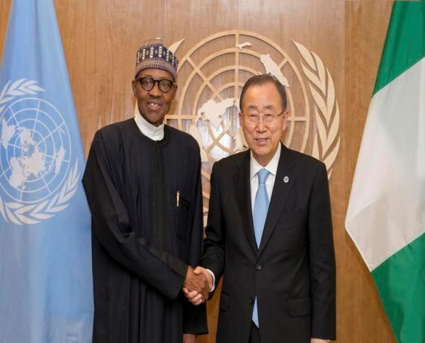 President Buhari and Ban Ki-moon