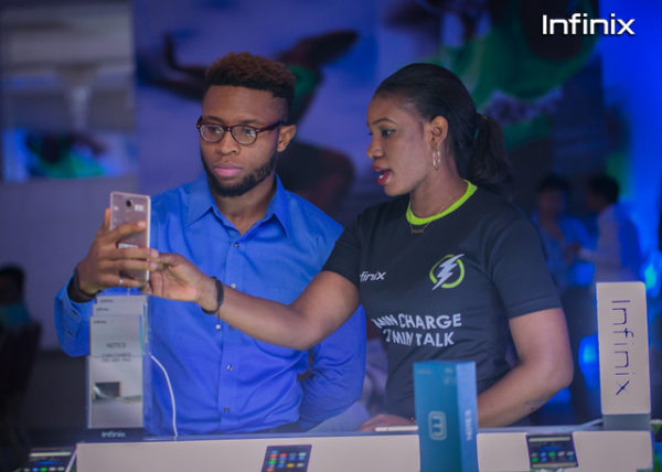 Pulse chuey chu at Infinix note 3 launch event