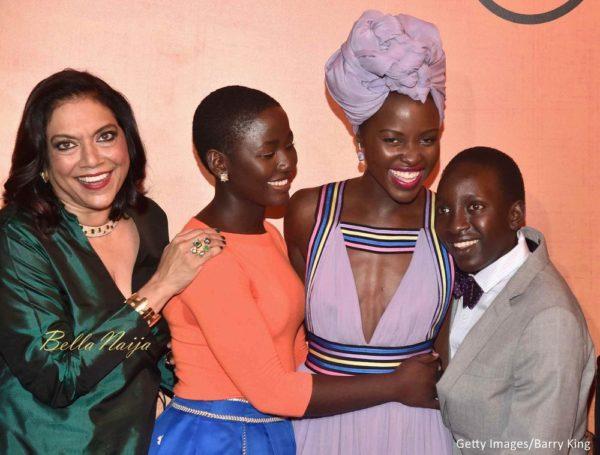 Director Mira Nair, actors Madina Nalwanga, Lupita Nyong'o and Martin Kabanza