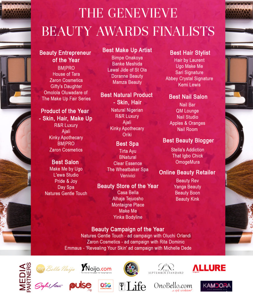 Revised Beauty Awards Finalists Poster
