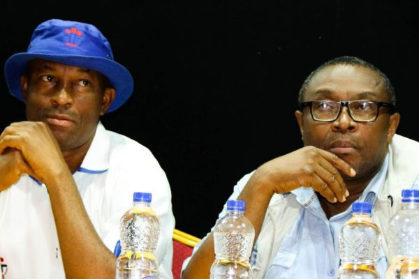 SFH Representatives_ Paschal Azubuike and Ernest Nwokolo observing the audition process
