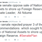 Senate Reject Sale of Assets