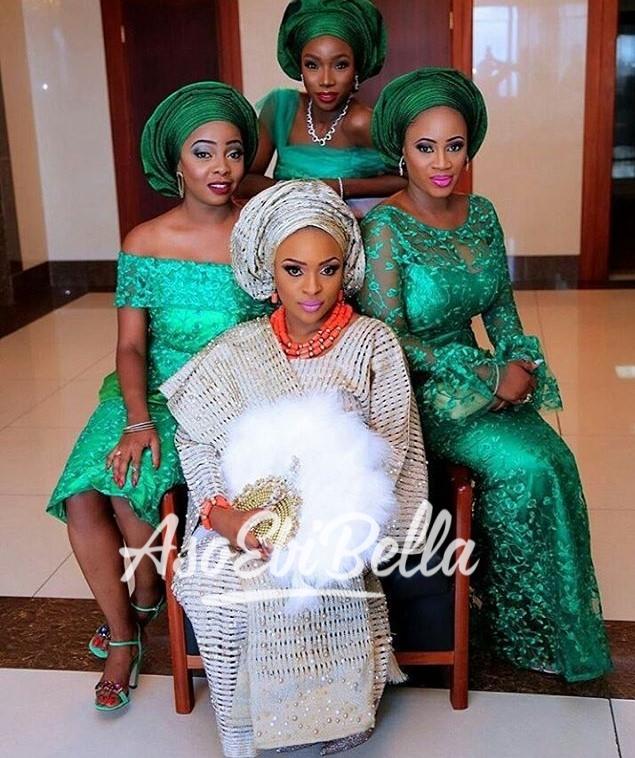 Stunning bride & her #AsoEbiBella MUA @banksbmpro