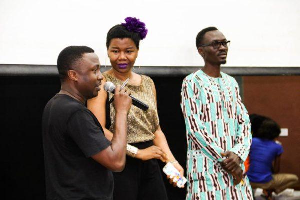 The Judges_ Wale Adenuga Jnr, Abiola Adenuga and Lekan Ayinde addressing the auditionees