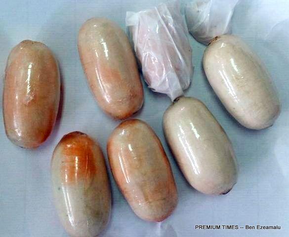 Wraps of Cocaine on Okechukwu