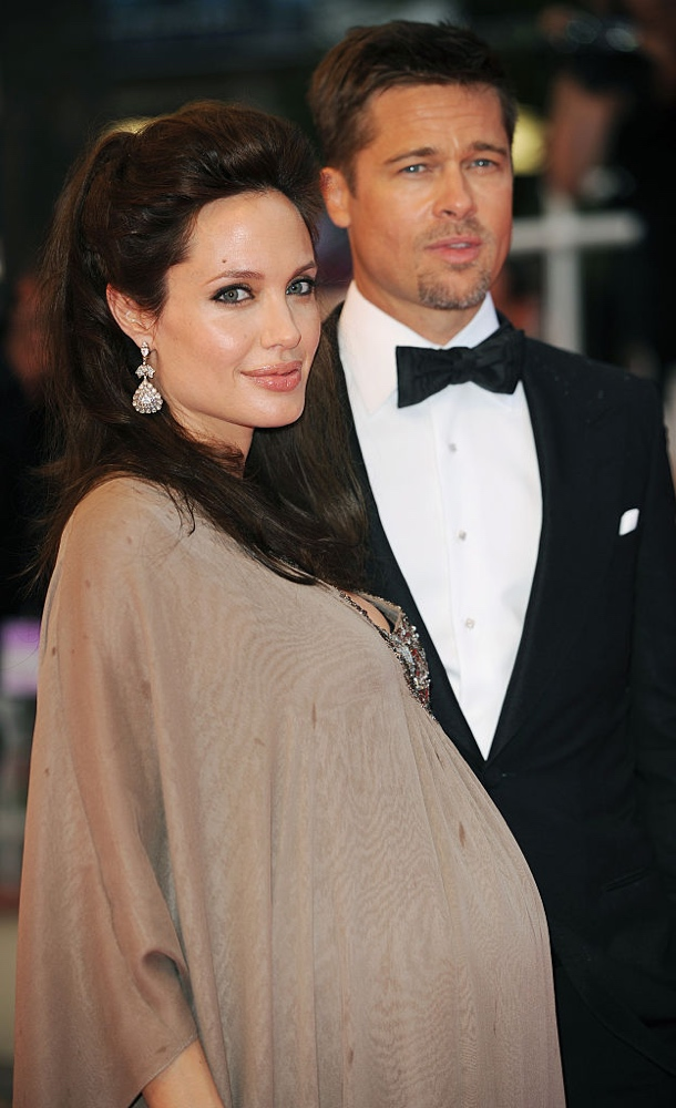 CANNES - MAY 20: Brad Pitt and Angelina Jolie attend 'The Exchange' Premiere at the Palais Des Festivals during the 61st International Cannes Film Festival May 20, 2008 in Cannes, France. (Photo by Anthony Harvey/Getty Images)