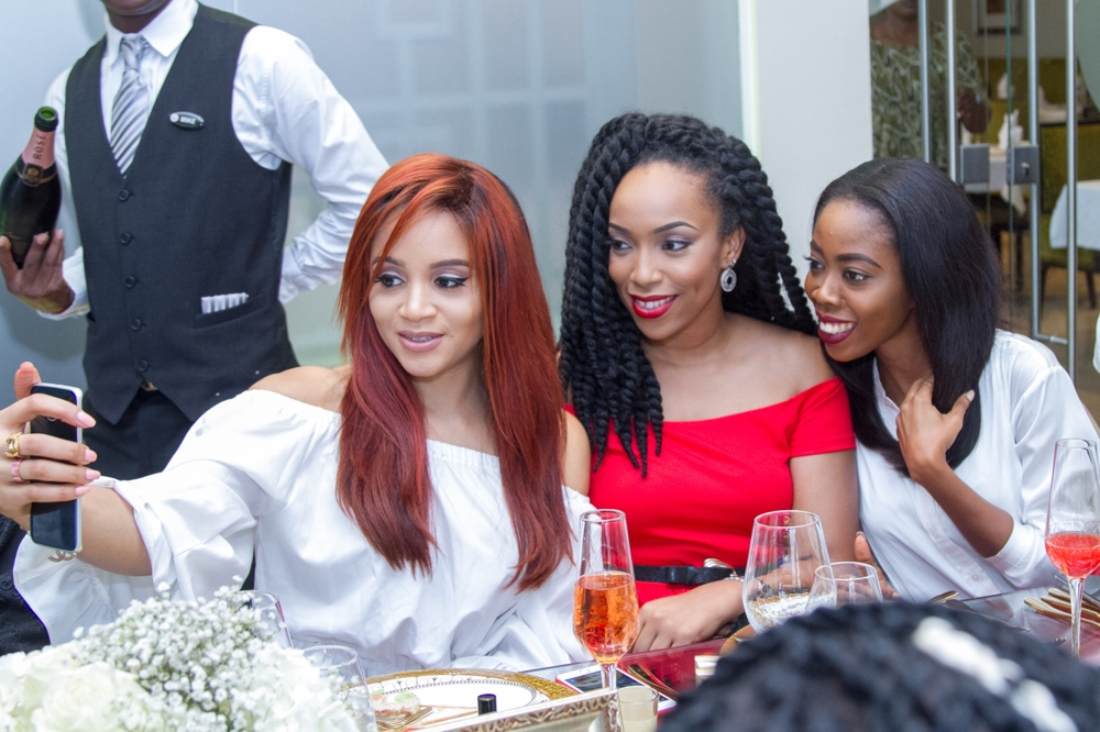 carolina herrera fragrance launch_Ezinne Alfa, Eki Ogunbor & Derin Odugbesan_bellanaija