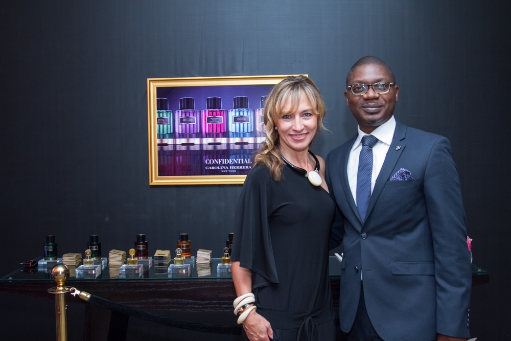 carolina herrera fragrance launch_Linda Angelos & Abubakar Tafawa Balewa_bellanaija