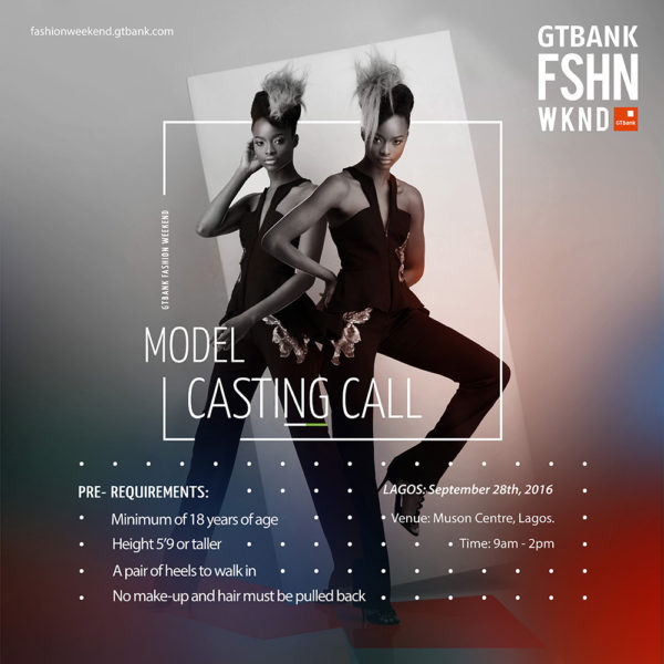 Model Casting Call for the Selection of Runway Models for ...