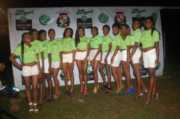 Line up of contestants for Glo Miss Ojude Oba