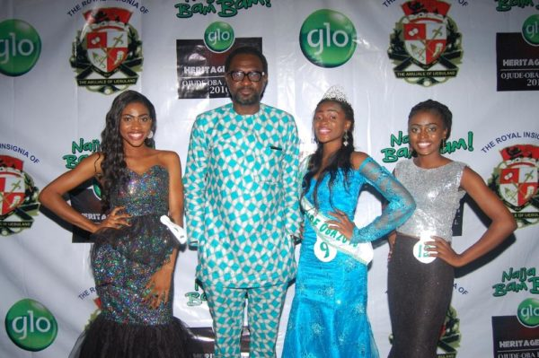 Miss Ojude Oba and runner-ups with the Commercial Coordinator, Business Enterprise, Globacom, Folu Aderibigbe.