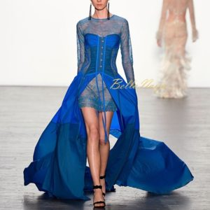NEW YORK, NY - SEPTEMBER 09:  A model walks the runway at the Tadashi Shoji fashion show durng New York Fashion Week: The Shows at The Arc, Skylight at Moynihan Station on September 9, 2016 in New York City.  (Photo by Frazer Harrison/Getty Images for New York Fashion Week: The Shows)