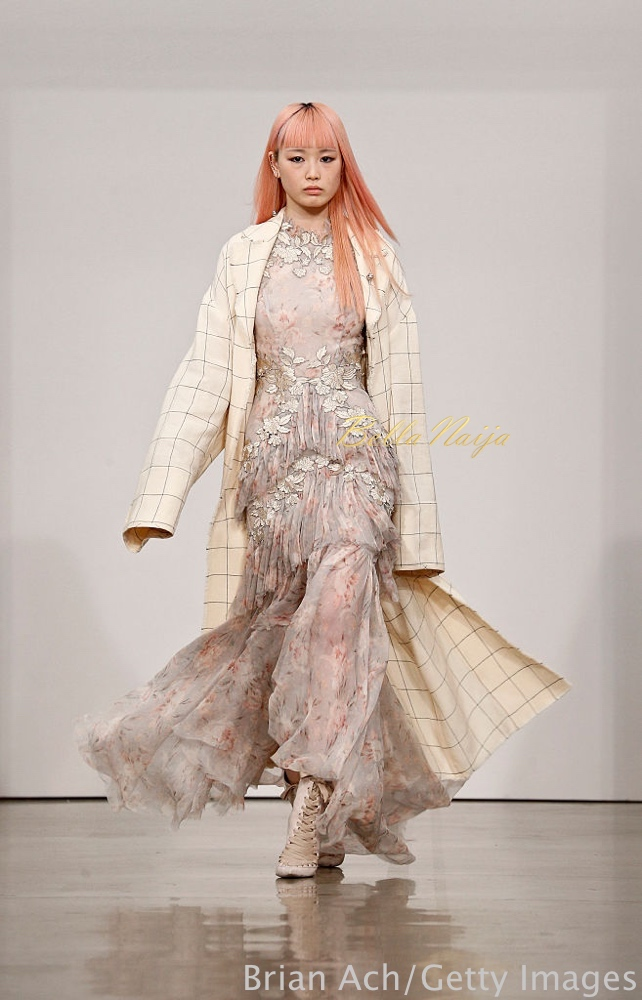 NEW YORK, NY - SEPTEMBER 09: A model walks the runway at the Zimmermann fashion show during New York Fashion Week September 2016 at Metropolitan Pavilion West on September 9, 2016 in New York City. (Photo by Brian Ach/Getty Images)