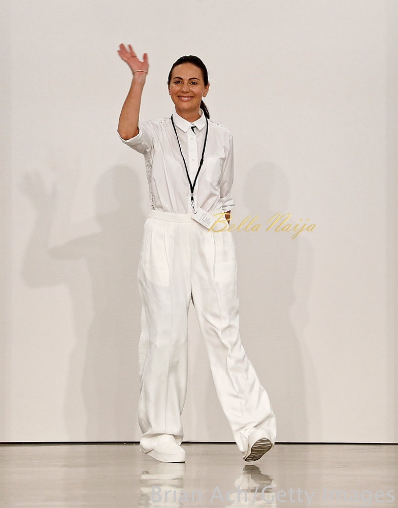 NEW YORK, NY - SEPTEMBER 09: Designer Simone Zimmerman appears on the runway at the Zimmermann fashion show during New York Fashion Week September 2016 at Metropolitan Pavilion West on September 9, 2016 in New York City. (Photo by Brian Ach/Getty Images)