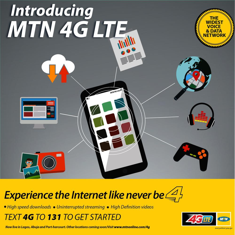 MTN Launches 4G LTE Services for Faster & High Speed Browsing Experience