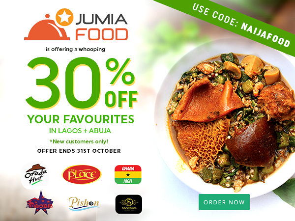 Jumia Food is Giving You The Chance to Order Lunch From Top Restaurants at a 30% Discount