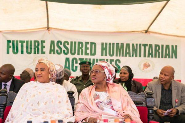 Aisha Buhari Donates Food Stuff to Kaga Community