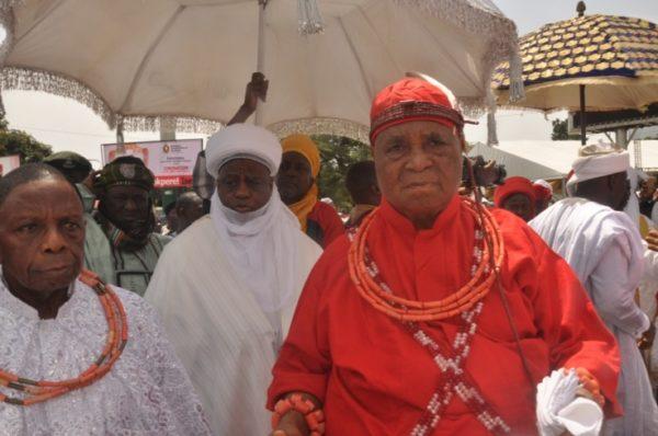 Alhaji Sa,adu Abubakar, Sultan of Sokoto and the Esama of Benin Kingdom, Chief Gabriel Igbinedion