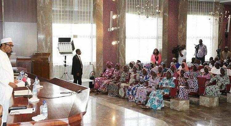 President Buhari Meets Chibok Girls3