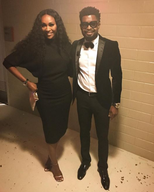 Basketmouth and Cynthia Bailey