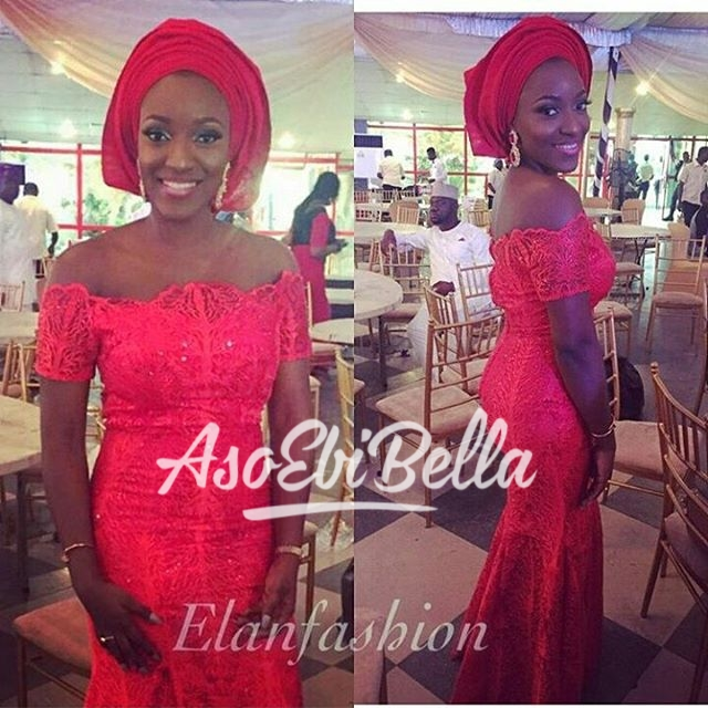 Bella in @elanfashion_ng Fabric @deroyalfabrics