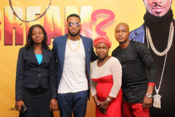 CREAM winners, Totlulope Folarin, Dbanj, Glory Bassey and Olakanmi Olalekan