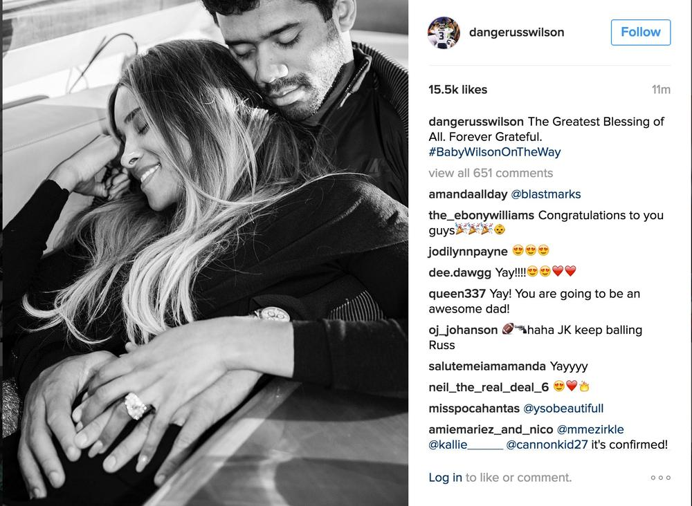 Ciara and Russell Wilson Baby BellaNaija