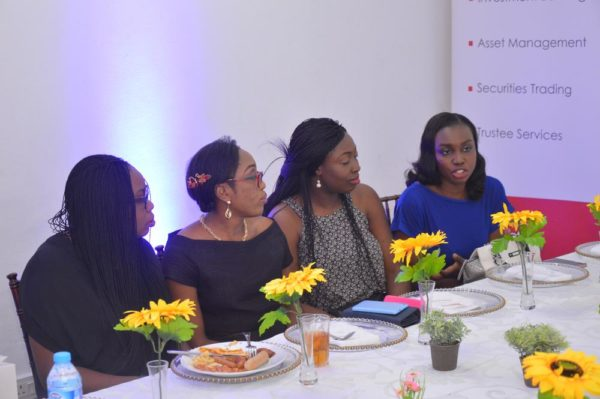 Guest introductions at the Women in Finance NG brunch