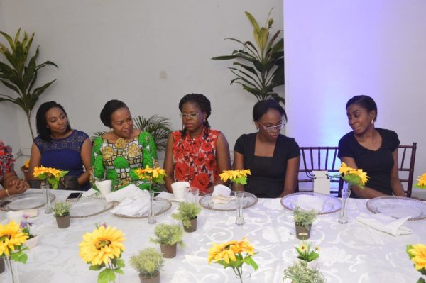 L-R: Dr. Jumoke Oduwole, Senior Special Assistant to the President on Industry, Trade and Investment; Oghogho Osula; Managing Director, Mainstreet Bank Trustees & Asset Management Company Ltd.; Yemisi Tayo-Aboaba, Director, Corporate Banking, Standard Chartered Bank; Sharon Ann-Alofokhai, Inspired by Glory; and Funsho Olusanya, Executive Director, FSDH Merchant Bank