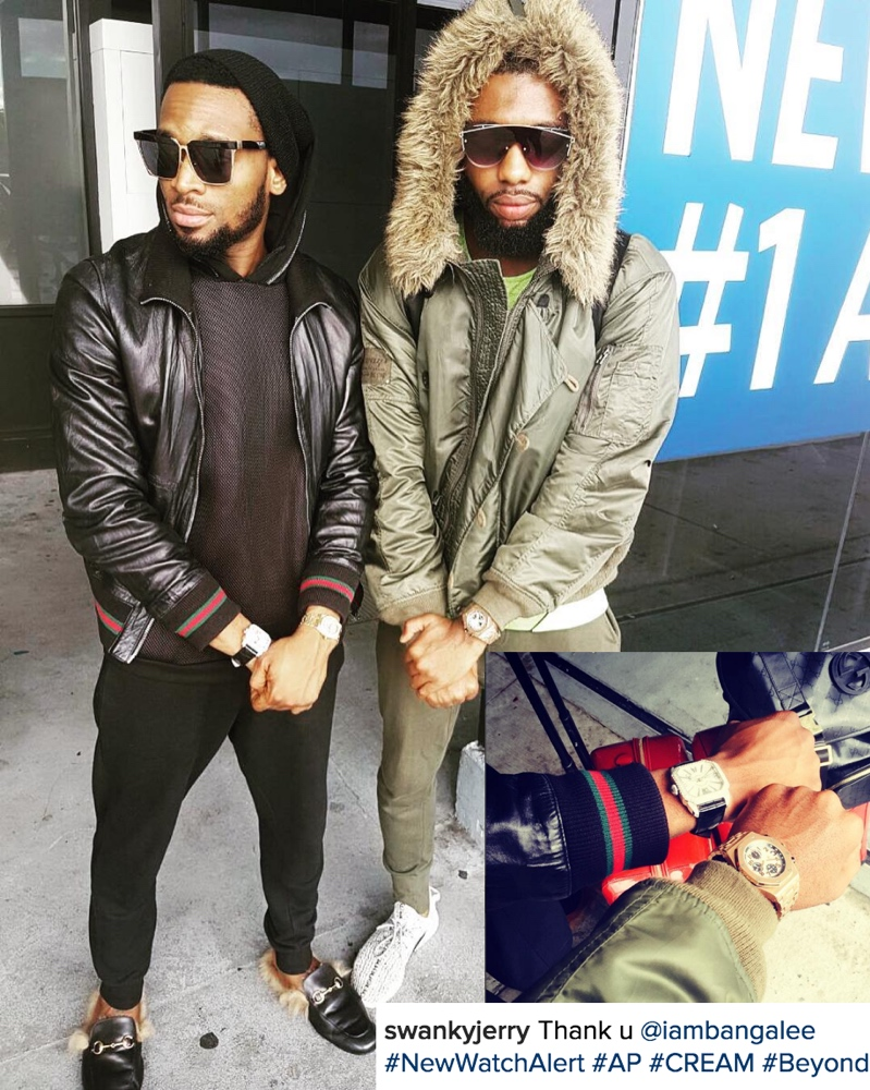 It Pays to be a Celeb Stylist! D'banj gifts Swanky Jerry with $35,000 (₦16,000,000) Audemars Piguet Watch in Houston