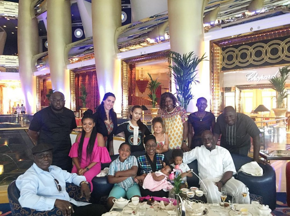 Dolapo Oni and Gbite Sijuwade Dubai Burj al Arab Vacation_3