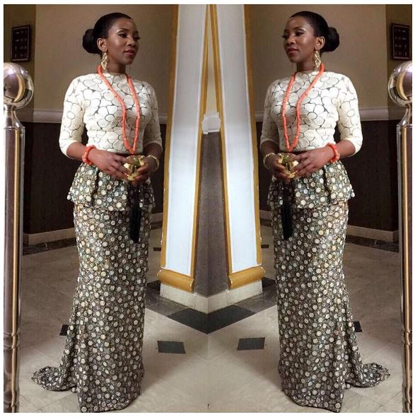 Chief Genevieve Nnaji steps out in Style for a Coronation