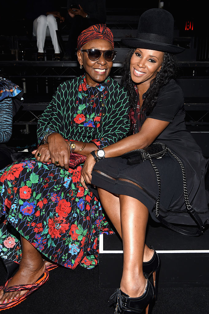 NEW YORK, NY - OCTOBER 19: Bethann Hardison and June Ambrose attend KENZO x H&M Launch Event Directed By Jean-Paul Goude' at Pier 36 on October 19, 2016 in New York City. (Photo by Dimitrios Kambouris/Getty Images for H&M)