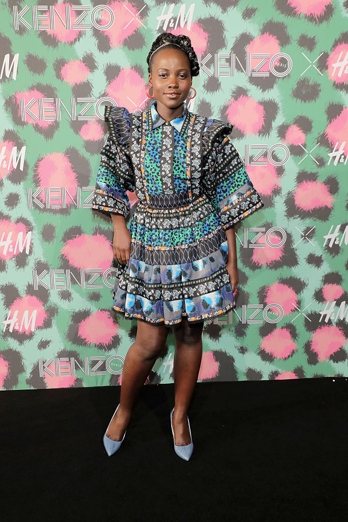 NEW YORK, NY - OCTOBER 19: Lupita Nyong'o attends KENZO x H&M Launch Event Directed By Jean-Paul Goude' at Pier 36 on October 19, 2016 in New York City. (Photo by Neilson Barnard/Getty Images for H&M)