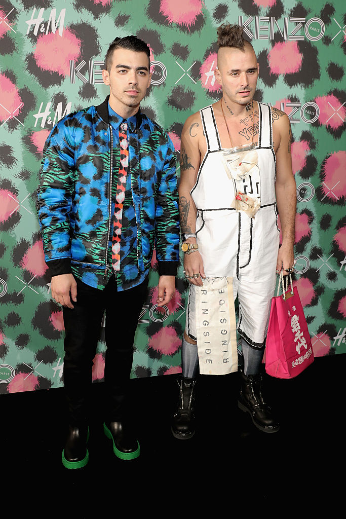 NEW YORK, NY - OCTOBER 19: Joe Jonas and Cole Whittle attend KENZO x H&M Launch Event Directed By Jean-Paul Goude' at Pier 36 on October 19, 2016 in New York City. (Photo by Neilson Barnard/Getty Images for H&M)