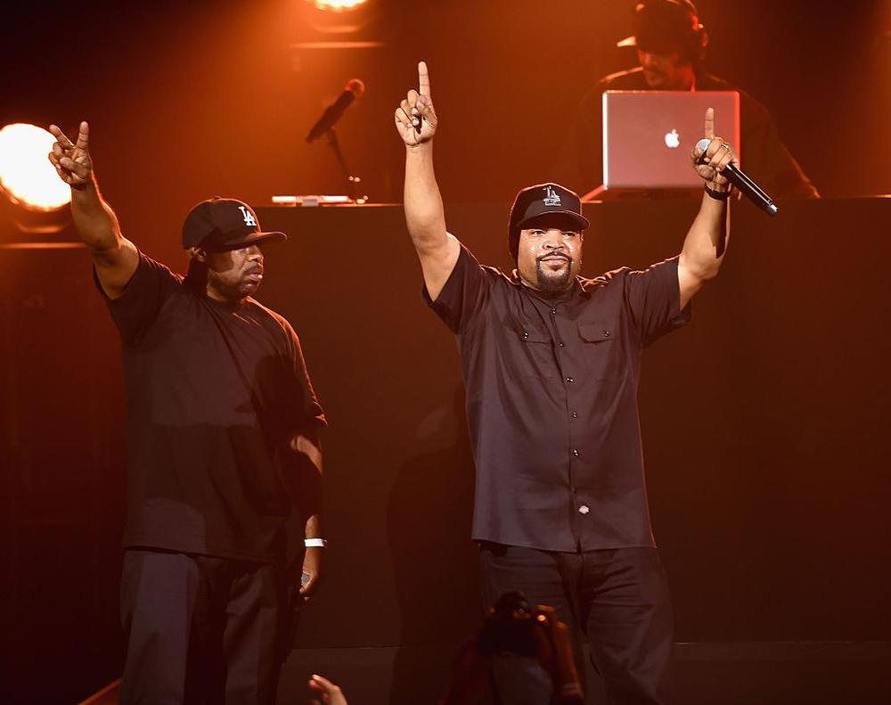 NEW YORK, NY - OCTOBER 19: Ice Cube performs at KENZO x H&M Launch Event Directed By Jean-Paul Goude' at Pier 36 on October 19, 2016 in New York City. (Photo by Nicholas Hunt/Getty Images for H&M)