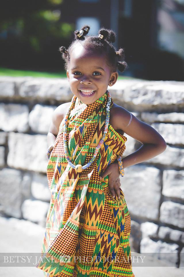 Ghanaian and Nigerian Family Photo Shoot_Kente_Great Grand Daughter